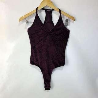 (S) Ransom body suit, velvet fabric, nice in actual, in almost looks new conditions