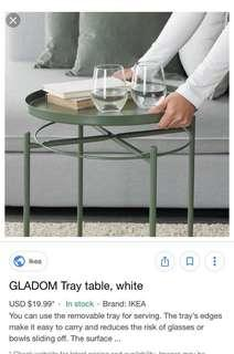 Gladom tray table $15