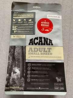 Selling cheap! Dog Food, ADULT ACANA Small breed.