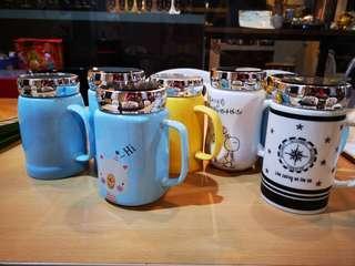 Stock clearance Ceramic mug with mirror lid