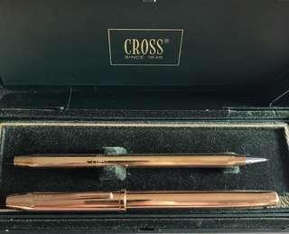 Cross fountain pen 18K gold nib FREE Cross pencil