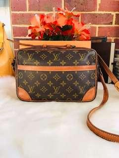 Authentic Vintage Louis Vuitton Trocadero 27 Monogram Leather Crossbody Bag