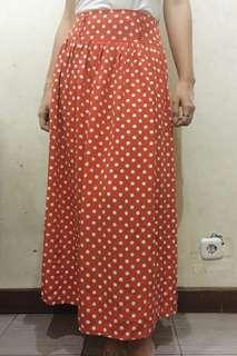 polkadot skirts vintage orange