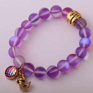 Mermaid glass Bead bracelet
