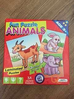 Fun Puzzle Animals
