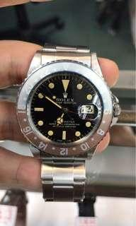 Rolex insert 勞力士圈片 GMT 1675 Super Fat Font 超肥字退色圈片 insert pepsi 百事紅藍