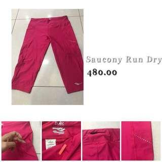 ❗️REPRICED!!! Authentic Saucony Running Capri tights with side and back pockets