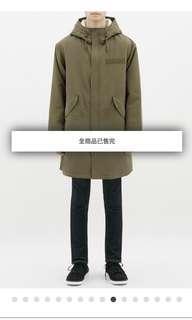 GU M51 fishtail parka 軍綠 軍裝大衣 內鋪棉 Lsize