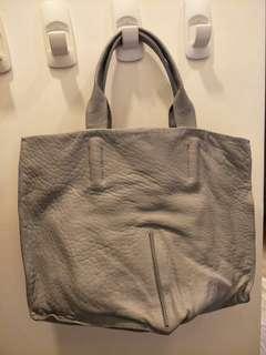 🚚 Authentic Calvin Klein Grey leather Bag