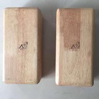 2pcs Wooden Yoga Block
