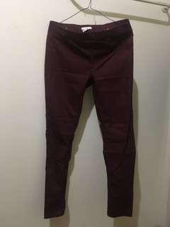 H&M Red/Maroon pants