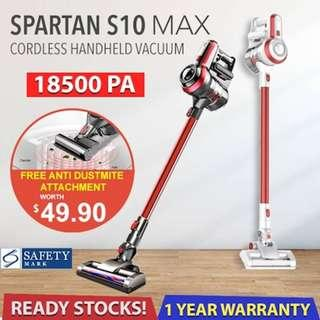 Spartan S10 Max Cordless Electric Vacuum Cleaner (100% real)