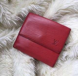 💎Louis Vuitton Red Epi Short Bi-Fold Wallet💎