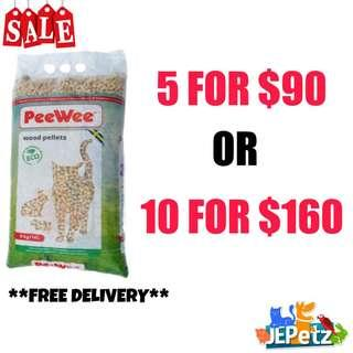 *SALE* Pee Wee Eco Wood Litter/Bedding 14L (Cat & Small Animals)