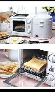 🚚 二手 早餐吧 烤箱電鍋 煎烤蒸煮