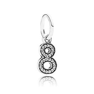 🚚 Pandora Number Numeral Eight / 8 Charm