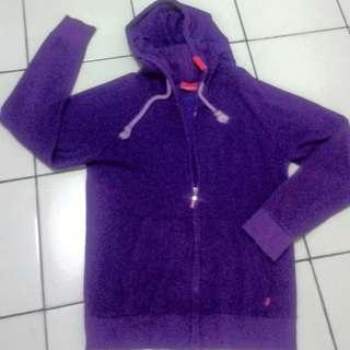 Jaket Zip Hoodie Supreme Purple made in Canada