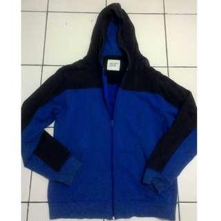 Jaket Zip Hoodie Old Navy Blue & Black Original