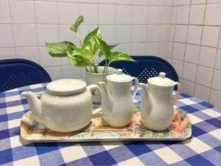 BN Pure White Porcelain Small Versatile Teapots