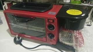 3in1 Breakfast Maker - Toaster oven, grill pan, coffee maker #TRU50
