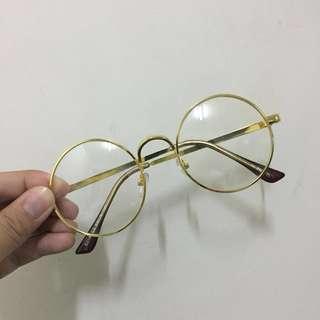 🚚 金框圓眼鏡
