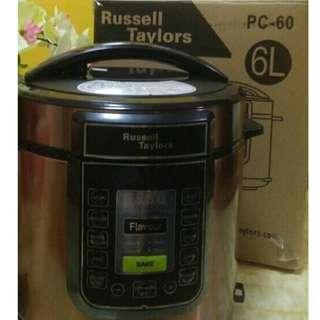 Russell Taylors 6L Electric Pressure Cooker PC-60, stainless steel pot - Multi Cooker Rice Cooker #TRU50