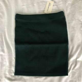🚚 BNWT Dark Green Knitted Bandage Skirt