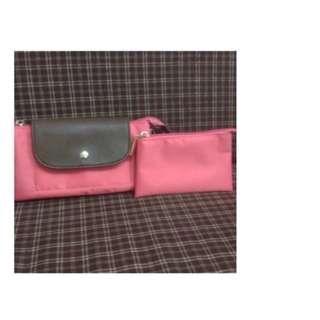 🚚 代售全新! 手拿包 簡約 手提包 零錢包 化妝包 肩背包 手機包 粉色