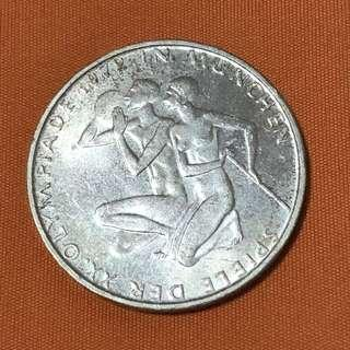 1972-D Germany 10 Mark Silver Coin