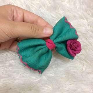 Pita rambut hijau pink