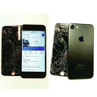 On the spot iPhone cracked Screen Repair! Call us @ 87558773
