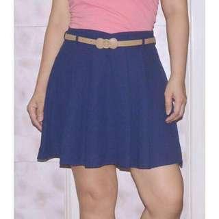Shorts w/ Pleat Skirt Overlay | Skorts