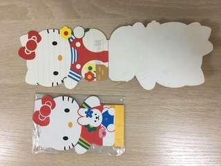 Hello Kitty 迷你封/ 1996年 Kitty 型狀薄仔/小手巾