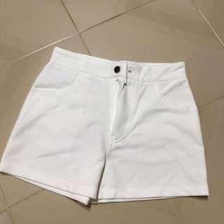 Cream White Shorts