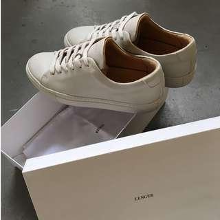 EU39 Grey-Olive Leather Sneaker (Lenger)