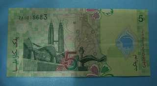 #TRU50 - Rm5 Replacement Notes ZA with 2 zeros