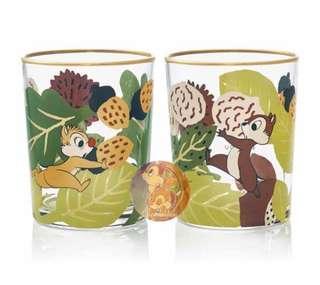 日本直送 Chip n Dale 鋼牙大鼻日本製燙金邊玻璃杯套裝 / Gift Set