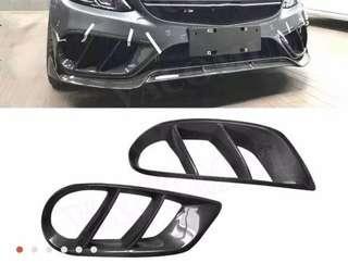 Mercedes W205 C Class Carbon Fiber Bumper Insert