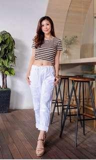 Boyfriend ripped jeans putih