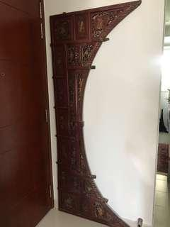 Vintage Peranakan/Chinese bed panel