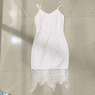 Fayth White Lace Dress