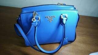 Prada original 💯 Authentic 2 way handbag Light Blue #TRU50