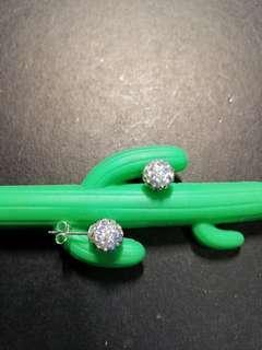 Ball disco diamond earrings