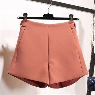 Rust high waist shorts