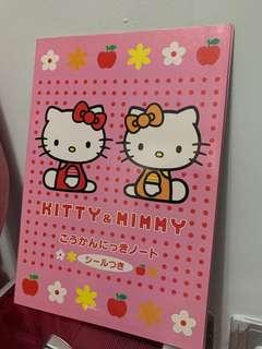 Hello Kitty 簿同貼紙