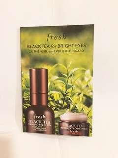 Fresh black tea firming eye serum 1.5ml + age delay eye concentrate 紅茶抗氧緊緻眼部精華+眼霜, 全新, exp. date 10/2021, 存貨2件