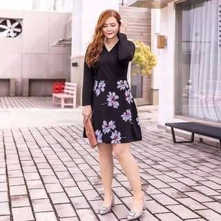 Plus Size Korean Combi Dress