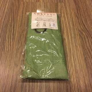 🚚 *全新* 日本製 全棉 圍巾 *抹茶色