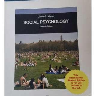 Social psychology (11th edition) (by David Myers)