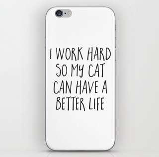 Better Life Cat iPhone Skin